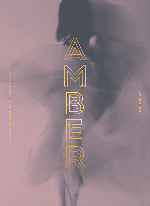 Amber brochure cover