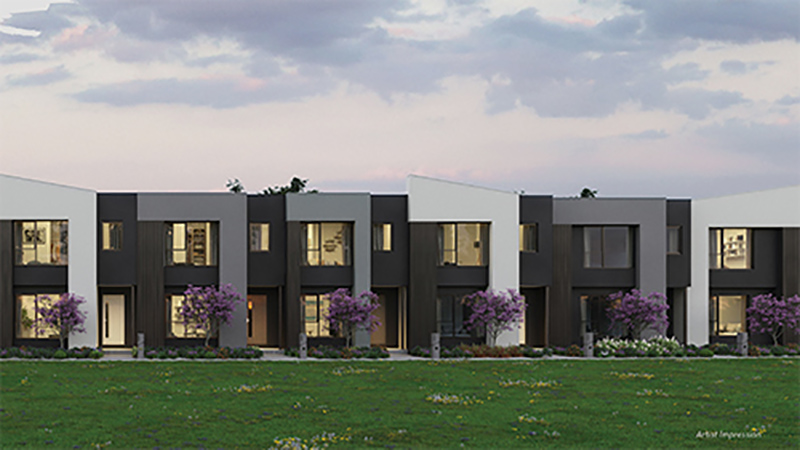 Aspire Townhomes Facade Render