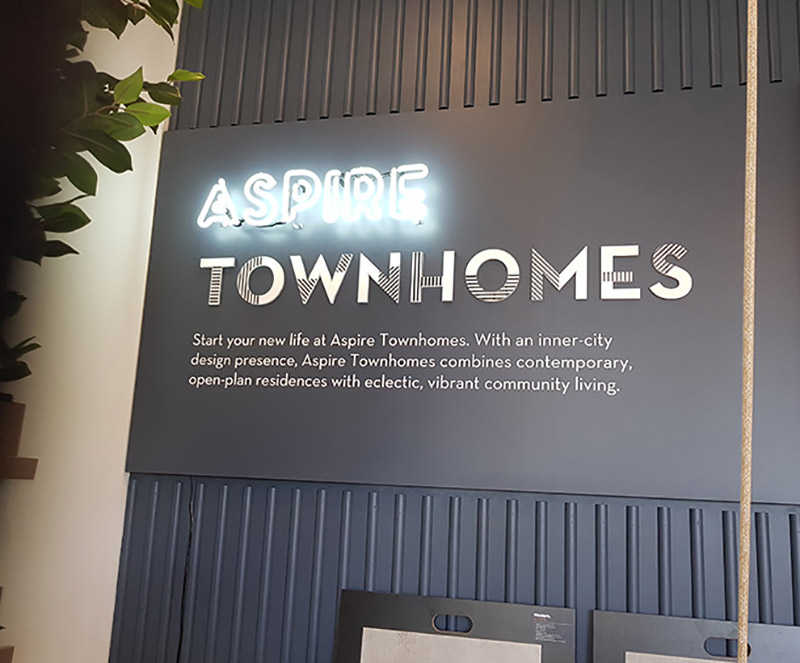 Aspire Townhomes sales office