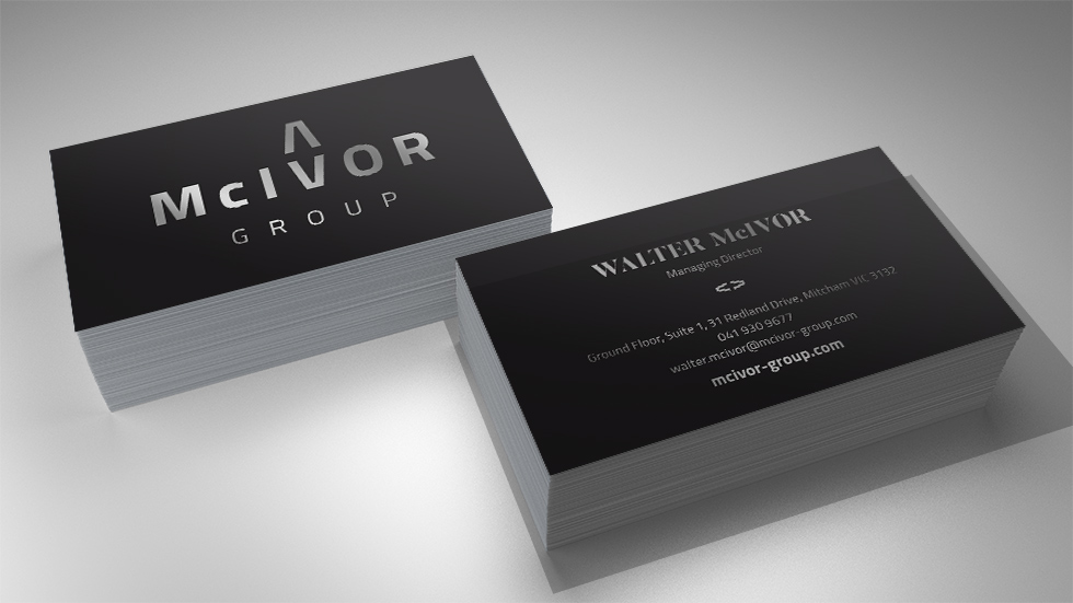 McIvor Group Business Card Design