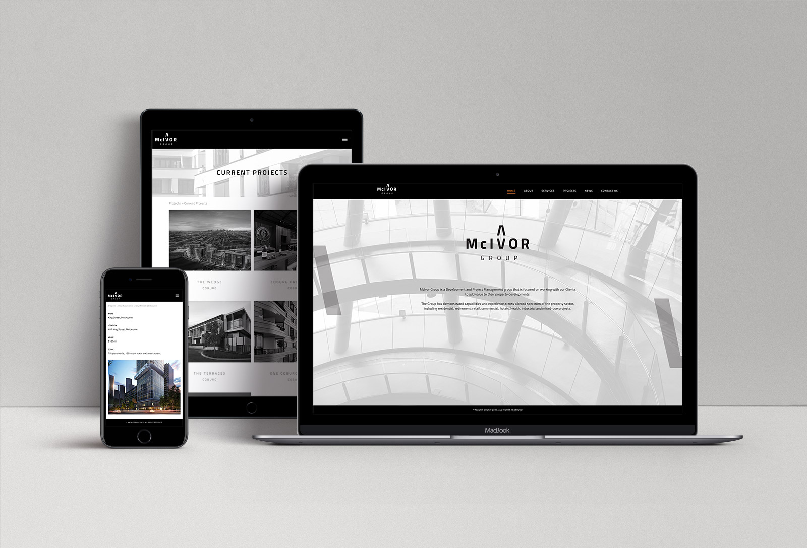 McIvor Group Web Design