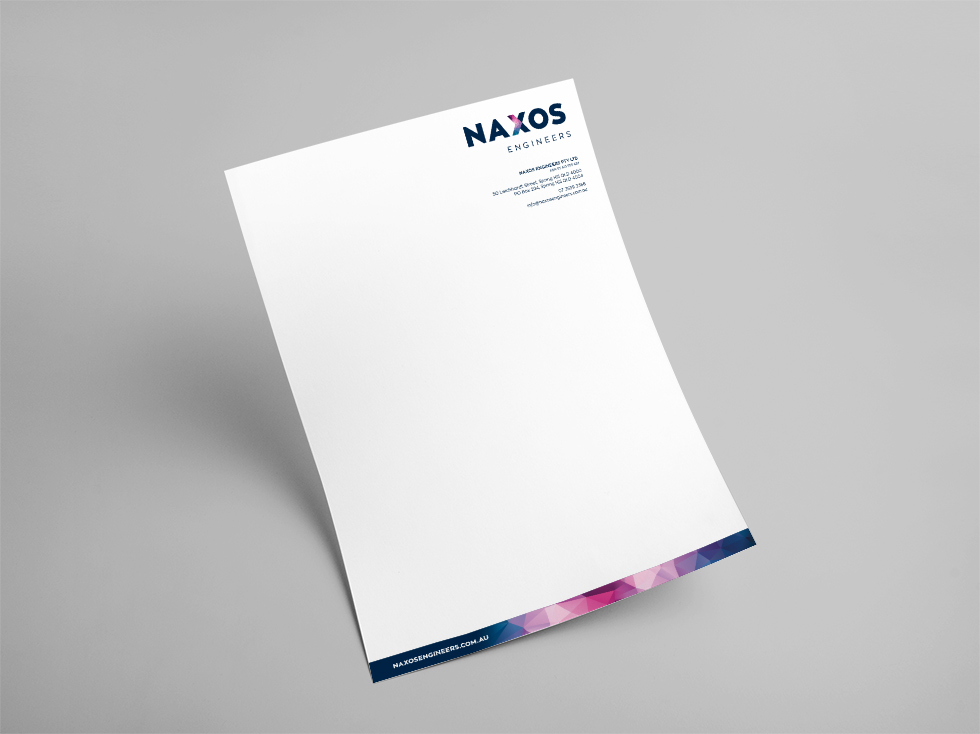 Naxos Engineers Corporate Stationery Letterhead
