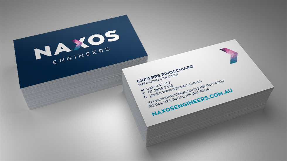 Naxos Engineers Business Card Design